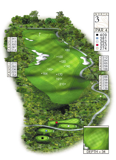 North Course Hole 3